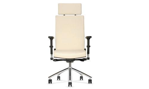 Fotel gabinetowy Diplomat biały
