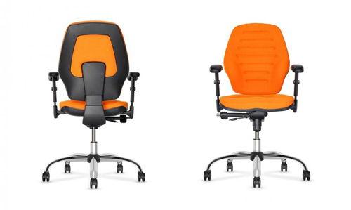 Krzesło biurowe Master w kolorze pomarańczowym