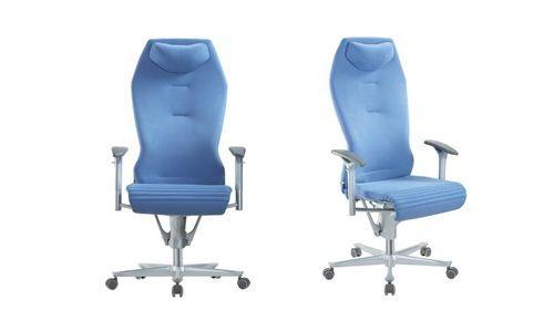Krzesło gabinetowe Galileo w kolorze niebieskim